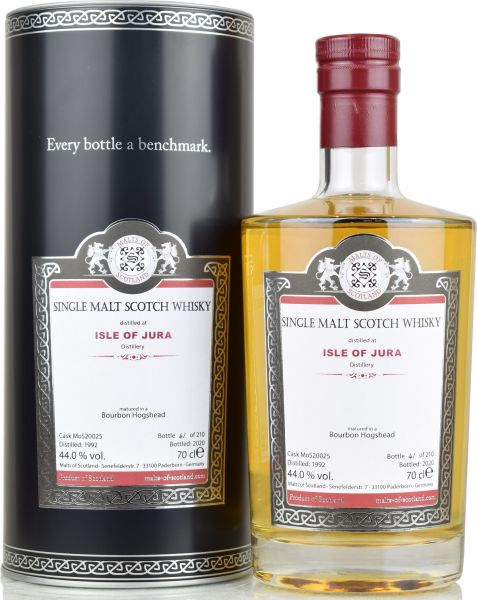 Isle of Jura 28 Jahre 1992/2020 Malts of Scotland 44% vol.