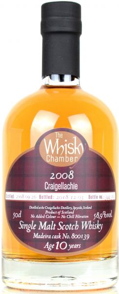 Craigellachie 10 Jahre 2008/2018 Madeira Cask The Whisky Chamber 58,9% vol.