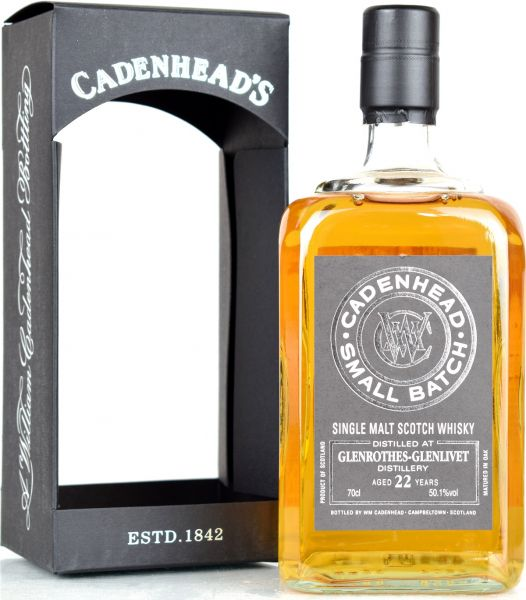 Glenrothes 22 Jahre 1996/2019 Cadenhead 50,1% vol.