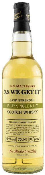 As we get it! Islay Cask Strenght 58,9% vol.