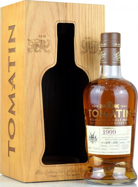 Tomatin 21 Jahre 1999/2021 PX Sherry Single Cask #34094 for deinwhisky.de 54,8% vol.
