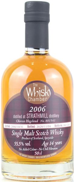 Strathmill 14 Jahre 2006/2020 Oloroso Cask The Whisky Chamber 55,5% vol.