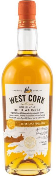 West Cork Rum Cask Finish 43% vol.