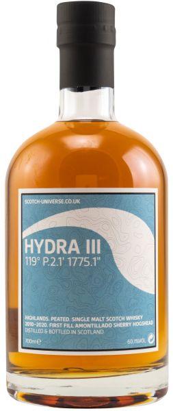 Hydra III 9 Jahre 2011/2021 1st Fill Amontillado Sherry Scotch Universe 60,1% vol.