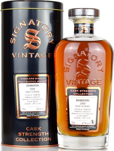 Deanston 10 Jahre 2008/2019 1st Fill Sherry Signatory Vintage Cask Strength Collection #900073