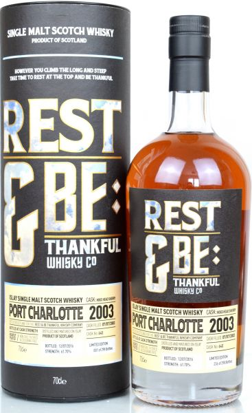 Port Charlotte 13 Jahre 2003/2016 Sherry Cask Rest & be Thankful 61,7% vol.