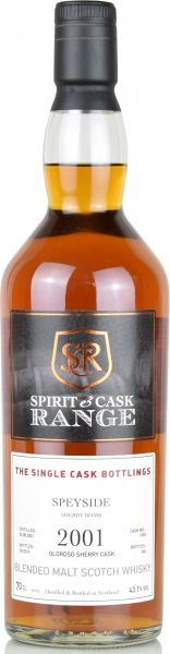 Speyside Sherry Bomb 2001/2019 Sherry Wood Spirit & Cask Range 43,1% vol.