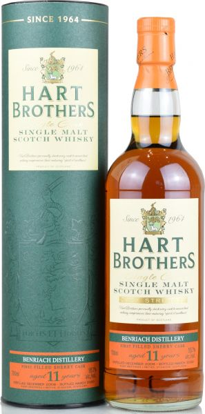 Benriach 11 Jahre 2008/2020 1st Fill Sherry Butt Hart Brothers 55,7% vol.