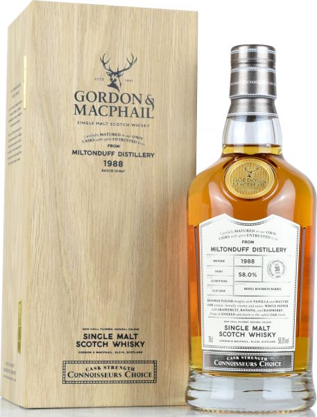 Miltonduff 30 Jahre 1988/2018 Gordon & MacPhail 58,0% vol.