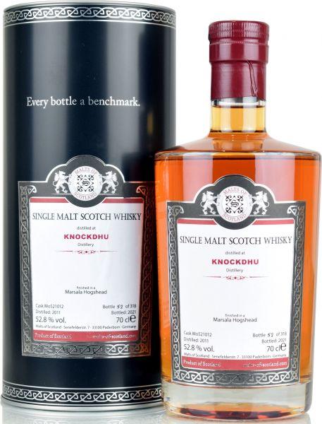 Knockdhu 10 Jahre 2011/2021 Marsala Cask Finish Malts of Scotland 52,8% vol.