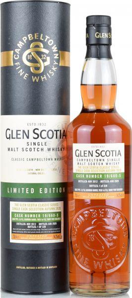 Glen Scotia 2012/2020 1st Fill Tawny Port Hogshead #19/660-5 54,3% vol.