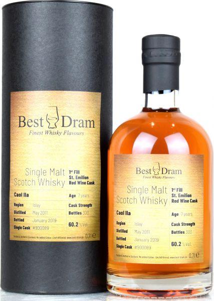 Caol Ila 7 Jahre 2011/2019 1st Fill St. Emilion Red Wine Best Dram 60,2% vol.