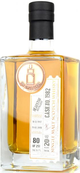 Deanston 20 Jahre 1997/2018 The Single Cask #1982 52,7% vol.