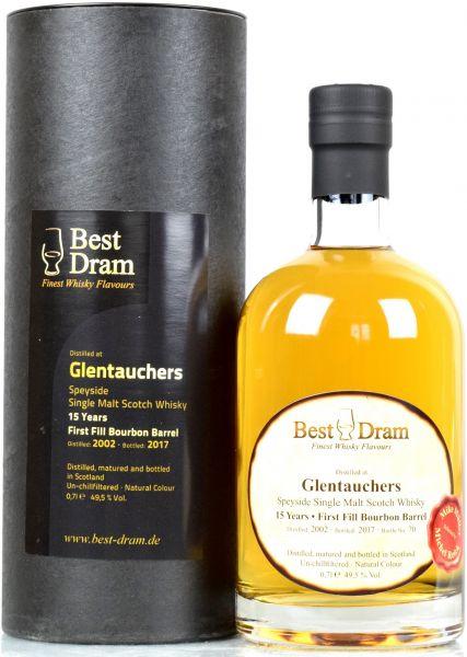 Glentauchers 15 Jahre 2002/2017 1st Fill Bourbon Barrel Best Dram