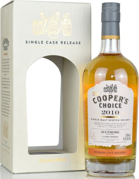 Aultmore 8 Jahre 2010/2019 Cooper's Choice 54,5% vol.