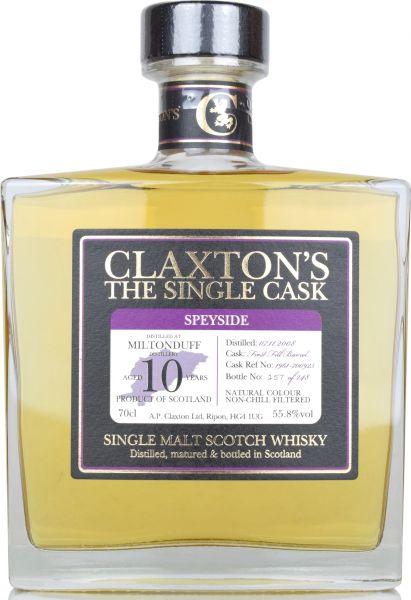 Miltonduff 10 Jahre 2008/2019 Claxton's 55,8 % vol.
