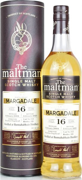 Margadale (Bunnahabhain) 16 Jahre 2004/2020 The Maltman 50% vol.