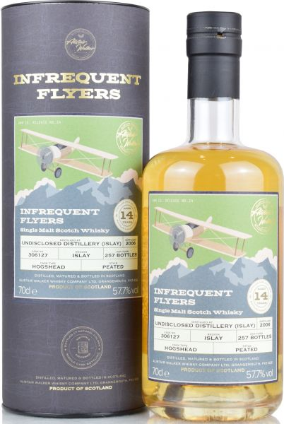 Undisclosed Islay 14 Jahre 2006/2020 Alistair Walker Infrequent Flyers 57,7% vol.