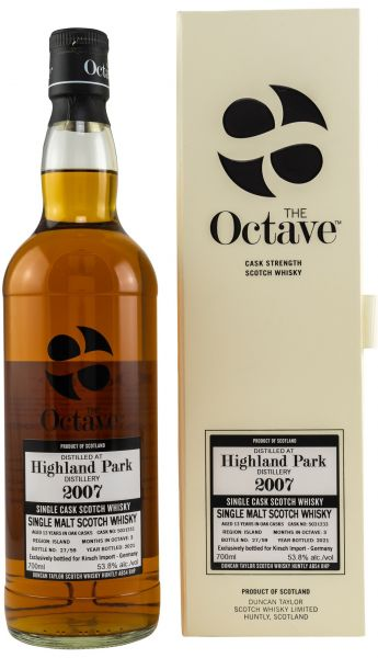 Highland Park 13 Jahre 2007/2021 Duncan Taylor Sherry Octave Cask #5031233 53,8% vol.
