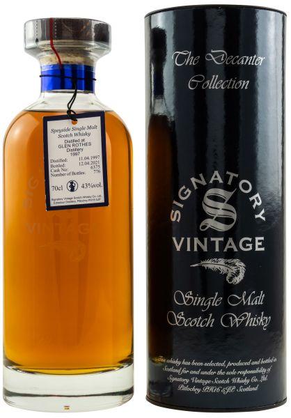 Glenrothes 24 Jahre 1997/2021 Signatory Vintage Ibisco Decanter #6375