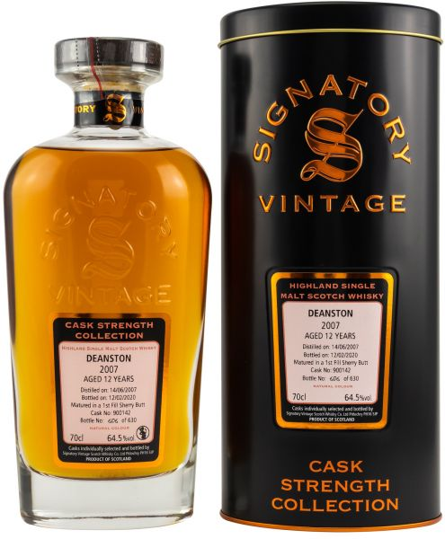 Deanston 12 Jahre 2007/2020 1st Fill Sherry Signatory Vintage Cask Strength Collection #900142