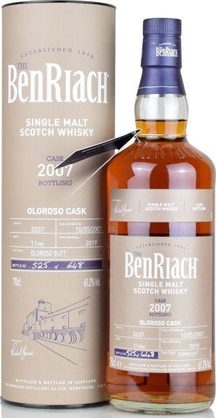 Benriach 11 Jahre 2007/2019 Batch 16 Oloroso Single Cask #3237 61,2% vol.
