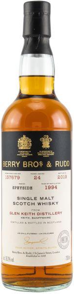 Glen Keith 24 Jahre 1994/2019 Sherry Cask Berry Bros. & Rudd #157679 59,2% vol.