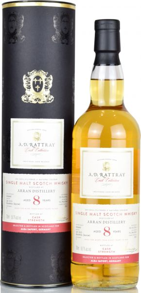 Arran 8 Jahre 2011/2019 A.D. Rattray 58,7% vol.