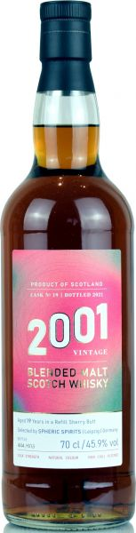 Blended Malt 19 Jahre 2001/2021 Sherry Cask Spheric Spirits 45,5% vol.