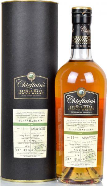 Bunnahabhain 11 Jahre 2006/2018 Sherry Butt Chieftain's 48,0 % vol.