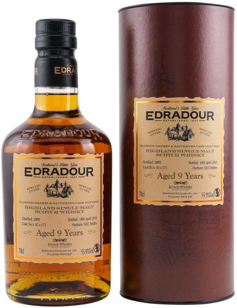 Edradour 9 Jahre 2009/2019 Oloroso + Sauternes Cuvee 55,9% vol.