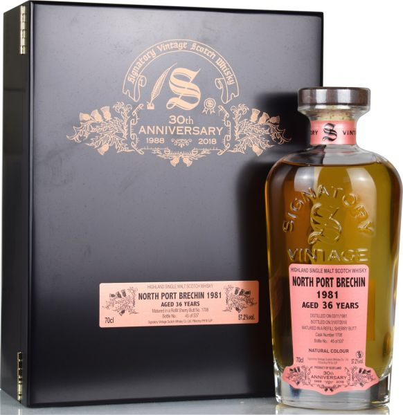 North Port Brechin 1981/2018 Signatory Vintage 30th Anniversary 57,2% vol.