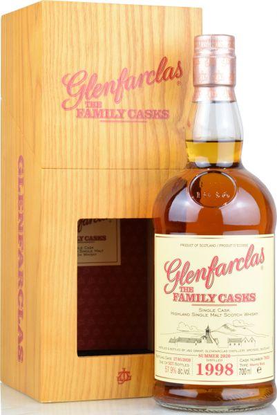 Glenfarclas 21 Jahre 1998/2020 Family Casks S20 #7635 57,9% vol.