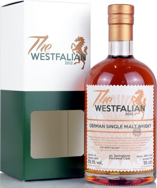 The Westfalian peated 2013/2021 Ex-Springbank Portwine Cask #32 55,1% vol.