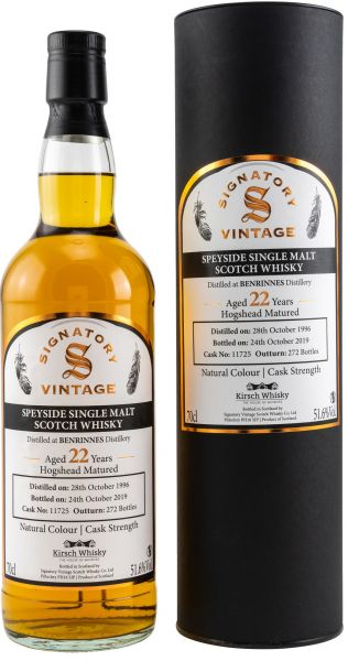 Benrinnes 22 Jahre 1996/2019 Signatory Vintage Cask Strength for Germany 51,6% vol.