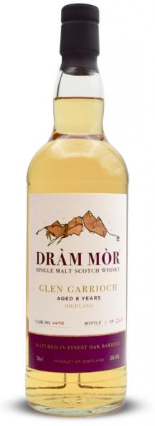 Glen Garioch 8 Jahre 2011/2019 Dram Mor 58,4% vol. + Uisge Source Wasser & Pipette gratis