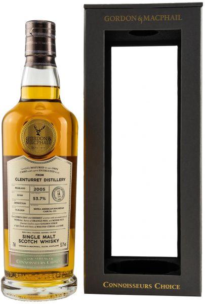 Glenturret 14 Jahre 2005/2020 Gordon & MacPhail Connoisseurs Choice Cask Strength 53,7% vol.
