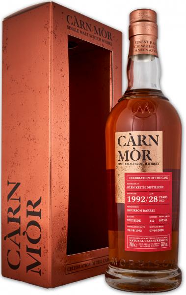 Glen Keith 28 Jahre 1992/2020 Carn Mor Celebration of the Cask #102365 55,7% vol.