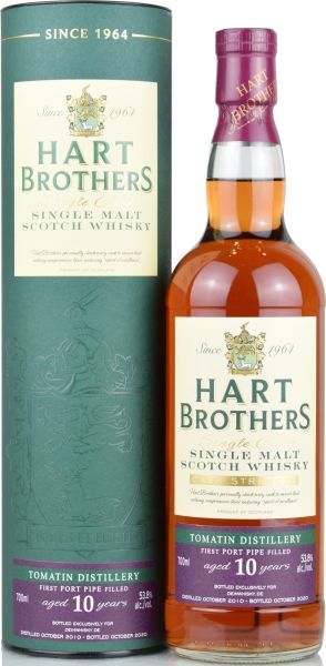 Tomatin 10 Jahre 2010/2020 1st Fill Port Pipe Hart Brothers for deinwhisky.de 53,8% vol.