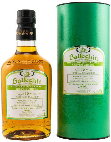 Ballechin 15 Jahre 2004/2020 Port Cask 54,7% vol.