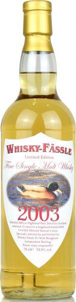 Highland Park 15 Jahre 2003/2018 Whisky-Fässle Duck-Label 53,3% vol.