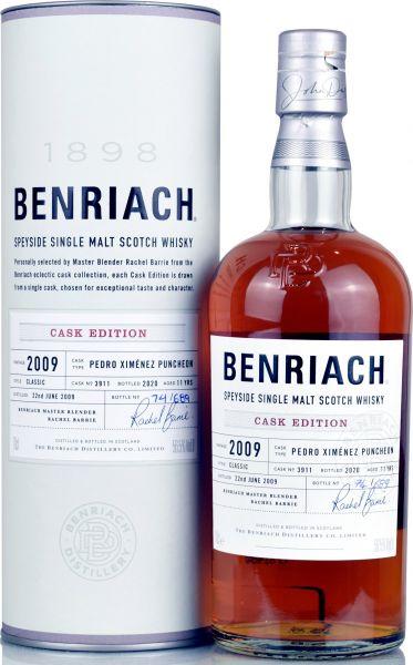Benriach 11 Jahre 2009/2020 PX Sherry Single Cask #3911 56,5% vol.