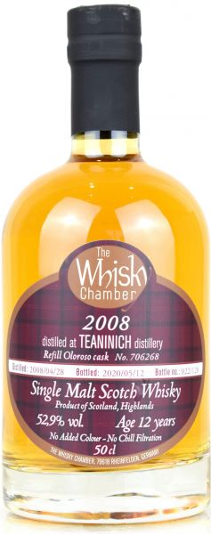 Teaninich 12 Jahre 2008/2020 Sherry Cask The Whisky Chamber 52,9% vol.