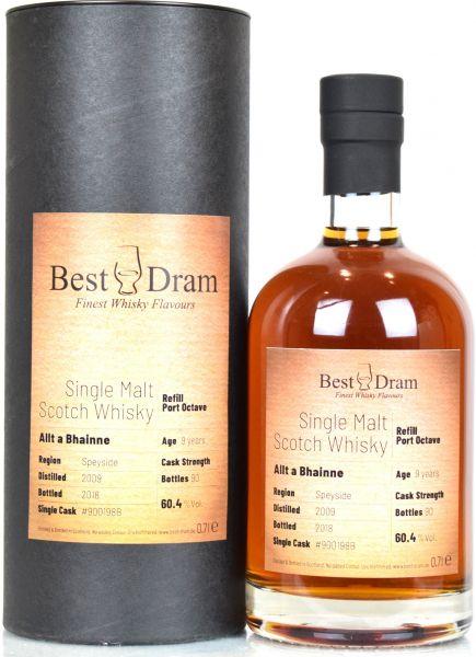 Allt-A-Bhainne 9 Jahre 2009/2018 Port Octave Best Dram 60,4% vol.