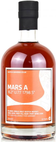 Mars A 13 Jahre 2006/2018 1st Fill Ruby Port Cask Scotch Universe 60,1% vol.