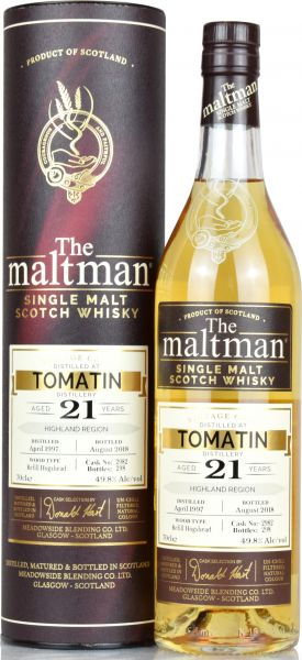 Tomatin 21 Jahre 1997/2018 The Maltman 49,8% vol.