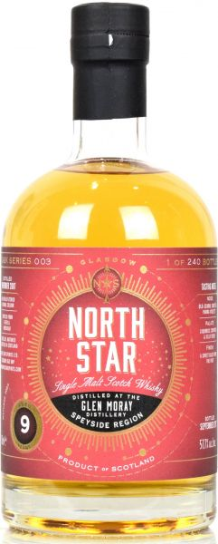 Glen Moray 9 Jahre 2007/2017 North Star Spirits 57,7% vol.