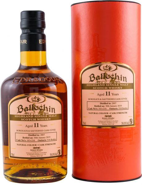 Ballechin 11 Jahre 2007/2019 Bordeaux + Sauternes Cuvee 58,0% vol.