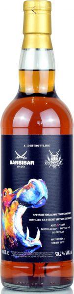 Secret Speyside 26 Jahre 1994/2020 Sherry Cask Sansibar Colourful Wildlife Joint Bottling 50,2% vol.