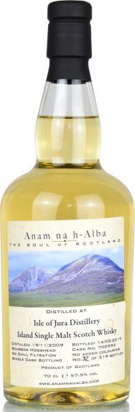 Jura 9 Jahre 2009/2019 Anam na h-Alba 57,5% vol.
